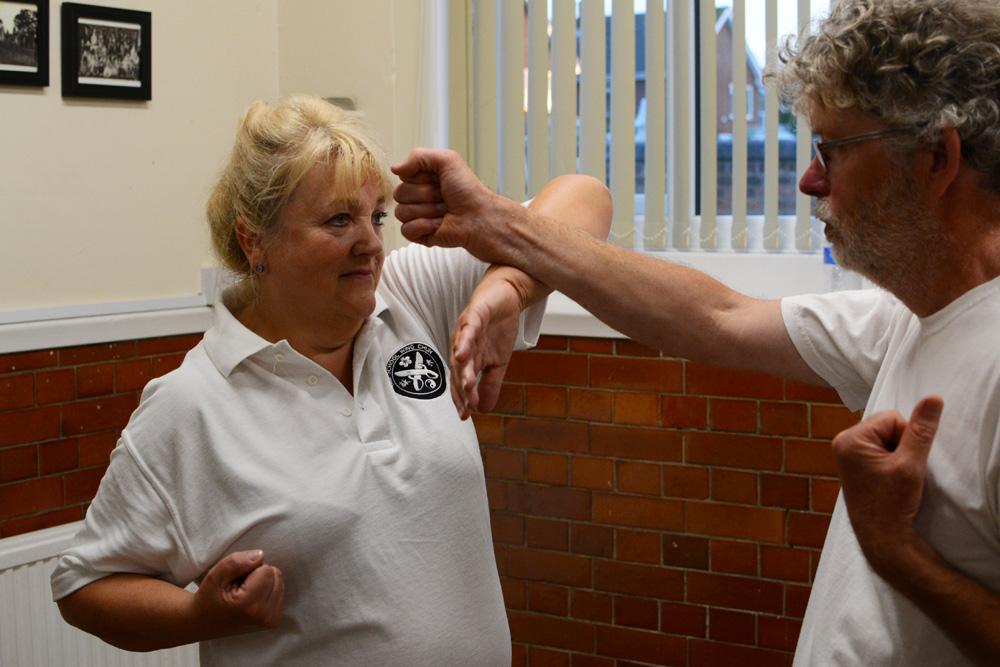 Old School Wing Chun Students training Dan Chi Sau